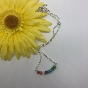 handmade multi color crystal necklace ♣️